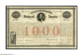 Confederate Notes:Group Lots, Ball 16 Cr. 4 $1000 1861 Bond Extremely Fine. This registered bondwas issued in May 1861 at Montgomery shortly before the C...