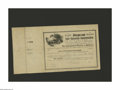 Confederate Notes:Group Lots, Ball 362, 364, 366 Cr. 152, 153, 154 $100, $500, $1000 1864-65 SixPer Cent Non Taxable Certificates. The $100 is an AU ... (Total: 3items)