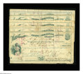 Obsoletes By State:Arkansas, Ozark, AR- Treasurer of Franklin County 1872/1873 County Warrants. Five pieces, all issued for various amounts, and all note... (Total: 5 items)