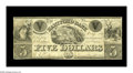 Obsoletes By State:Connecticut, Hartford, CT- Hartford Bank $5 Sept. 1, 1839 S5. The Haxby plate example of this very scarce note. Very Fine....