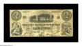 Obsoletes By State:Connecticut, New Haven, CT- The City Bank of New Haven $2 Jan. 2, 1843 G20. A rare note which is listed as SENC in the Haxby reference.