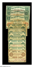 Obsoletes By State:Massachusetts, Boston, MA 3¢ Scrip Part 1.. W.P. Marshall 3¢ Undated VG. NewEngland Oyster Co. 3¢ (3) Jan. 1, 1863 Fine, o... (Total: 10 notes)