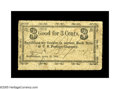 Obsoletes By State:Massachusetts, Marblehead, MA- B. Epson, Jr 3¢ April 18, 1864. This rare notecomes from our Friedberg Collection sale of January, 1997, wh...