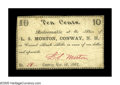 Obsoletes By State:New Hampshire, Conway, NH- L.S. Morton 10¢ Nov. 16, 1862. A very rare piece of scrip which is the first we've seen from this issuer. Nice