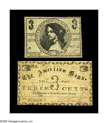 Obsoletes By State:New Hampshire, Manchester, NH- L.G. Clock, S.B. Hadley 3¢ July 10, 1863, Dec. 4, 1863. Two scarce pieces, the Hadley note grading a nice ... (Total: 2 notes)