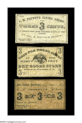 Obsoletes By State:New Hampshire, Manchester, NH- C.M. Putney, Putney's One Price Dry Goods Store, A.J. Tebbetts 3¢ Jan. 1, 1863, Aug. 1, 1864, Jan. 1, 1863. ... (Total: 3 notes)