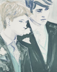 Elizabeth Peyton (b. 1965) William and Harry, 2000 Lithograph in colors on wove paper 24 x 19 inc