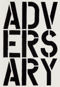 Prints:Contemporary, Christopher Wool (b. 1955). Adversary, from the BlackBook series, 1989. Screenprint on wove paper. 22-3/4 x 15-5/8...