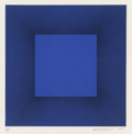 Prints, Richard Anuszkiewicz (b. 1930). Blue with Black, from the Autumn Suite, 1979. Intaglio etching with aquatint on Some...