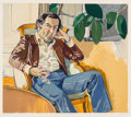 Prints:Contemporary, Alice Neel (1900-1984). The Accountant (Marvin), 1981.Lithograph in colors on Arches paper. 22 x 25-1/2 inches (55.9 x...