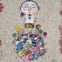Takashi Murakami (b. 1962) Naked Me Contemplates Death (Memento Mori) and Flower and Death and Me an