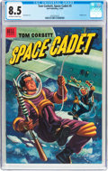 Golden Age (1938-1955):Science Fiction, Tom Corbett Space Cadet #5 (Dell, 1953) CGC VF+ 8.5 Off-white towhite pages....