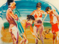 Paintings, Eric Fischl (b. 1948). On the Beach - 2, 2014. Mixed media pigment print with poured resin. 30 x 40 x 2 inches (76.2 x 1...