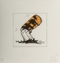 Prints:Contemporary, Claes Oldenburg (b. 1929). Butt for Gantt, from theHarvey Gantt Portfolio, 1990. Lithograph in colors withembossin...