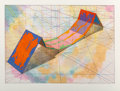 Prints:Contemporary, Ronald Davis (b. 1937). Invert Span, from the SnaplineSeries, 1979. Lithograph and screenprint in colors onhandmad...