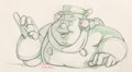 Animation Art:Production Drawing, Pinocchio Coachman Animation Drawing (Disney, 1940)...