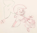 "Animation Art:Production Drawing, Pinocchio ""Give a Little Whistle"" Animation Drawing (Disney, 1940)..."