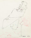Animation Art:Production Drawing, Pinocchio Honest John Animation Drawing (Disney, 1940)...