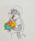 Animation Art:Production Drawing, Virgil Ross - Bugs Bunny as the Bride Illustration (WarnerBrothers, c. 1990s)....