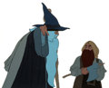 Animation Art:Production Cel, The Lord of the Rings Gandalf and Gimli Production Cel Setupand Animation Drawing Group (1978).... (Total: 4 )