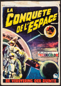 "Movie Posters:Science Fiction, Conquest of Space (Paramount, 1955). Trimmed Belgian (14"" X 20"").Science Fiction.. ..."