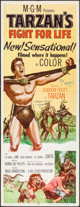 "Movie Posters:Adventure, Tarzan's Fight for Life (MGM, 1958). Autographed Insert (14"" X36""). Adventure.. ..."
