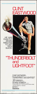"Movie Posters:Crime, Thunderbolt and Lightfoot (United Artists, 1974). Insert (14"" X 36"") Style C. Crime.. ..."