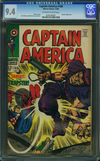 Captain America #108 (Marvel, 1968) CGC NM 9.4 Off-white to white pages