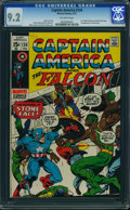 Bronze Age (1970-1979):Superhero, Captain America #134 (Marvel, 1971) CGC NM- 9.2 Off-white pages.