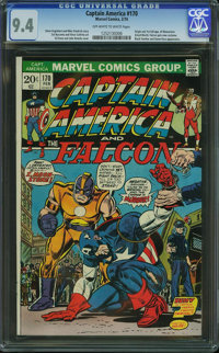 Captain America #170 (Marvel, 1974) CGC NM 9.4 Off-white to white pages