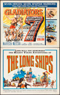 "Movie Posters:Adventure, The Long Ships and Other Lot (Columbia, 1963). Half Sheets (2) (22""X 28""). Adventure.. ... (Total: 2 Items)"
