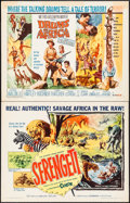 "Movie Posters:Documentary, Serengeti and Others Lot (Allied Artists, 1960). Half Sheets (3) (22"" X 28""). Documentary.. ... (Total: 3 Items)"