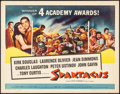 """Movie Posters:Action, Spartacus (Universal International, 1961). Half Sheet (22"""" X 28"""")Academy Award Style. Action.. ..."""