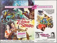 """The 7th Voyage of Sinbad/Watch Out, We're Mad! Combo (Columbia, R-1974). British Quad (30"""" X 40""""). Fantasy..."""