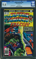 Bronze Age (1970-1979):Superhero, Captain America #202 - WESTPORT COLLECTION (Marvel, 1976) CGC NM9.4 White pages.