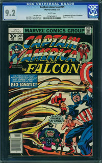 Captain America #209 - WESTPORT COLLECTION (Marvel, 1977) CGC NM- 9.2 White pages