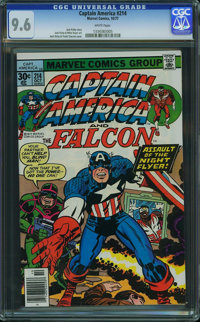 Captain America #214 - WESTPORT COLLECTION (Marvel, 1977) CGC NM+ 9.6 White pages
