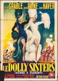 """Movie Posters:Musical, The Dolly Sisters (20th Century Fox, 1949). First Post War Release Italian 2 - Fogli (39"""" X 55""""). Musical.. ..."""
