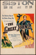 "Movie Posters:Sports, The Great John L. (United Artists, 1945). Window Card (14"" X 22""). Sports.. ..."