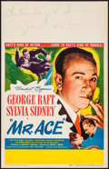 "Movie Posters:Drama, Mr. Ace (United Artists, 1946). Window Card (14"" X 22""). Drama.. ..."