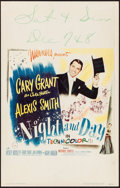 "Movie Posters:Musical, Night and Day (Warner Brothers, 1946). Window Card (14"" X 22"").Musical.. ..."