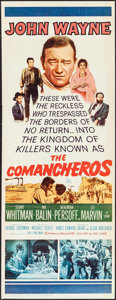 """Movie Posters:Western, The Comancheros (20th Century Fox, 1961). Trimmed Insert (13.5"""" X 36""""). Western.. ..."""