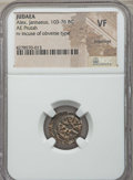 Ancients:Judaea, Ancients: JUDAEA. Alexander Jannaeus (103-76 BC). Æ prutah. NGC VF,brockage....