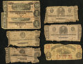 Confederate Notes:Group Lots, T55 $1 1862;. T62 $1 1863;. T61 $2 1863 (2);. T68 $10 1864 (2);.Richmond, VA- Commonwealth of Virginia $1 May 15, 1862. ... (Total:7 notes)