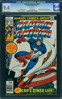 Captain America #225 - WESTPORT COLLECTION (Marvel) CGC NM 9.4 White pages