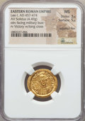 Ancients:Roman Imperial, Ancients: Leo I the Great, Eastern Roman Emperor (AD 457-474). AVsolidus (4.49 gm). NGC MS 3/5 - 5/5, adjusted flan....