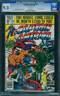 Captain America #249 (Marvel, 1980) CGC VF/NM 9.0 White pages