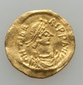 Ancients:Byzantine, Ancients: Maurice Tiberius (AD 582-602). AV tremissis (1.45 gm).Choice VF, wavy flan....