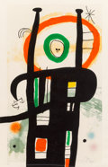 Prints:European Modern, Joan Miró (1893-1983). Le grand ordinateur, 1969. Etching,aquatint, and carborundum in colors on Arches paper. 39-3/8 x...