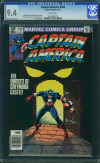 Captain America #256 - WESTPORT COLLECTION (Marvel, 1981) CGC NM 9.4 White pages